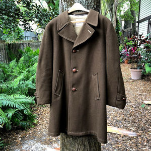 Vintage Martin's Vintage Men's Pea Coat Brown VTG